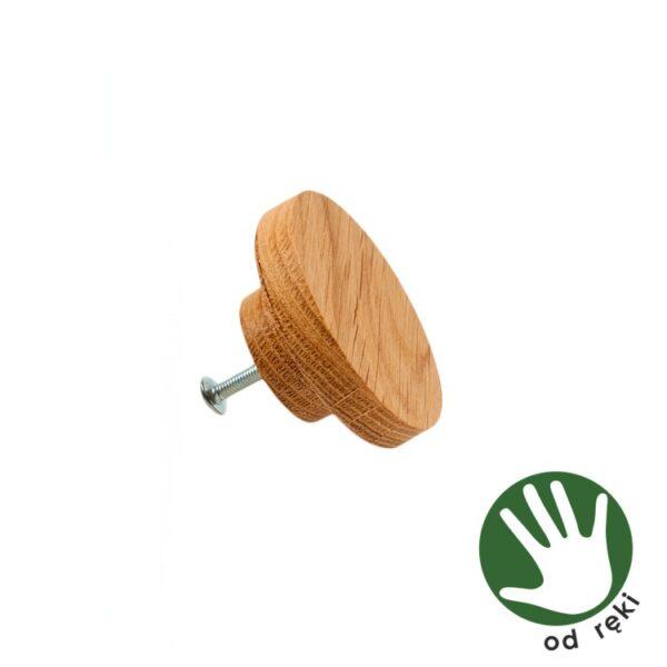 dębowe gałki do mebli impregnowane olejem naturalnym - dostępne od ręki