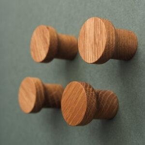 BASIC dębowe gałki / wieszaki 3 cm