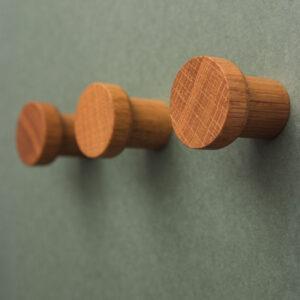 SIMPLE dębowe gałki meblowe / wieszaki 3 cm