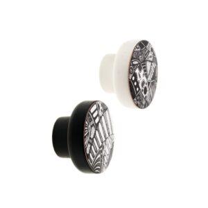 KOSMOSY BLACK & WHITE - czarno-białe gałki do mebli DOT Manufacture