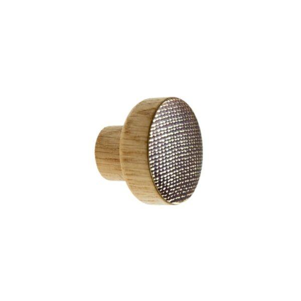 STAMP mosiężne gałki do mebli na dębowej bazie - DOT Manufacture