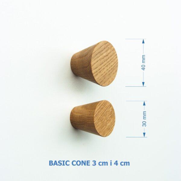 Nowoczesna gałka do mebli - BASIC CONE 3 cm i 4 cm - DOT Manufacture