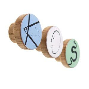 Gałki meblowe z literkami do pokoju dziecięcego - ALFABET - DOT Manufacture