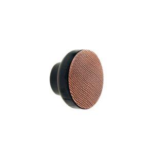 Miedziane STAMP BLACK - gałki do mebli - DOT MANUFACTURE