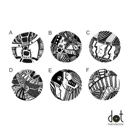 KOSMOSY - wzornik grafik dla gałek i wieszaków DOT Manufacture
