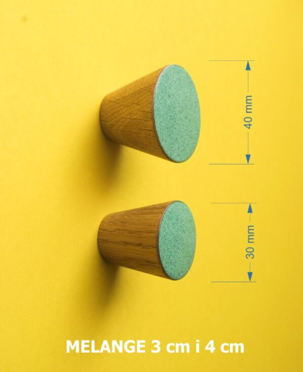 Kolorowe gałki do mebli 3 cm i 4 cm na bazie drewna - MELANGE - DOT Manufacture