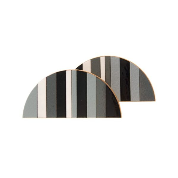 Półokrągłe mozaikowe uchwyty meblowe TONE - DOT Manufacture