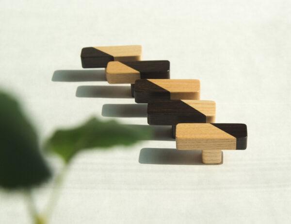JUST TWO prostokątne gałki na niższych nóżkach - DOT Manufacture